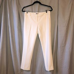White Lined Ankle pants